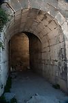 Arch and passageway to the theater in Um Qais