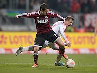 FUSSBALL   1. BUNDESLIGA  SAISON 2012/2013   12. Spieltag 1. FC Nuernberg - FC Bayern Muenchen      17.11.2012 Xherdan Shaqiri (re, FC Bayern Muenchen) gegen Markus Feulner (1 FC Nuernberg)