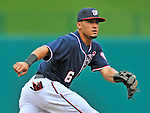 5 September 2011: Washington Nationals shortstop Ian Desmond in action against the Los Angeles Dodgers at Nationals Park in Los Angeles, District of Columbia. The Nationals defeated the Dodgers 7-2 in the first game of their 4-game series. Mandatory Credit: Ed Wolfstein Photo