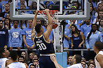 05 January 2015: Notre Dame's Zach Auguste dunks the ball. The University of North Carolina Tar Heels played the University of Notre Dame Fighting Irish in an NCAA Division I Men's basketball game at the Dean E. Smith Center in Chapel Hill, North Carolina. Notre Dame won the game 71-70.