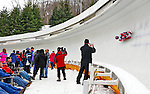 7 February 2009: Ian Cockerline slides for Canada in the Men's Competition at the 41st FIL Luge World Championships, in Lake Placid, New York, USA. .  .Mandatory Photo Credit: Ed Wolfstein Photo
