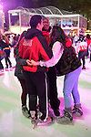 Manhattan, New York, U.S. 9th November 2013. Visitors ice skate and shop at the annual Holiday Shops, at Winter Village skating rink at Bryant Park that night,