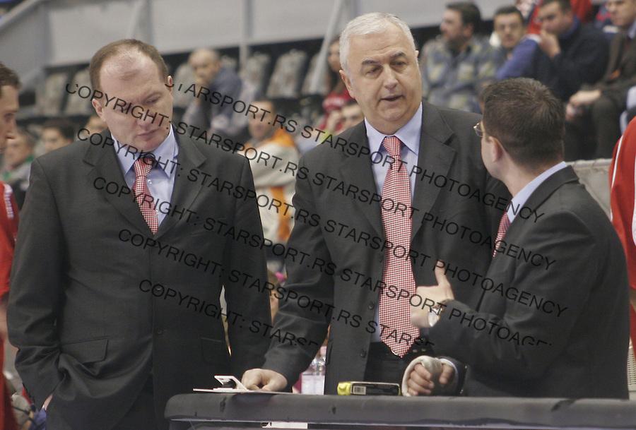 SPORT KOSARKA CRVENA ZVEZDA LUKOIL ACADEMIC ULEB KUP CUP  Karadzic Sakota 31.1.2006. foto: Pedja Milosavljevic<br />