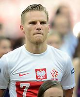 FUSSBALL  EUROPAMEISTERSCHAFT 2012   VORRUNDE Polen - Griechenland      08.06.2012 Eugen Polanski (Polen)