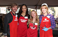 Los Angeles, CA - NOVEMBER 23: Stephen Nichols, Sal Stowers, Marci Miller, Deidre Hall, At Los Angeles Mission Thanksgiving Meal For The Homeless At Los Angeles Mission, California on November 23, 2016. Credit: Faye Sadou/MediaPunch