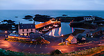 Evening descends on the harbour and village of St. Abbs in North East England.