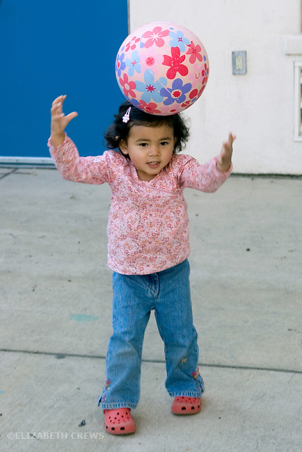 Berkeley CA Girl, two and a half, half Nepalese, experimenting with bal balancing  MR