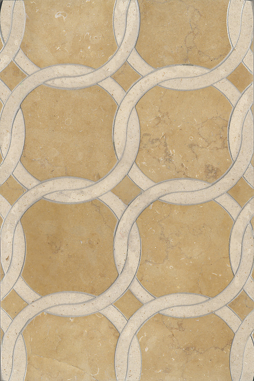 Name: Connecting Circles<br /> Style: Contemporary<br /> Product Number: CB0763<br /> Description: Connecting Circles in Ivory Cream, Jerusalem Gold (h)
