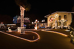 Luminarias for Christmas Eve at Eastridge, neighborhood, El Paso, Texas.