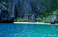 Limestone Cliffs in Palawan Philippines
