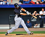 12 March 2011: New York Yankees' catcher Austin Romine in action during a Spring Training game against the Washington Nationals at Space Coast Stadium in Viera, Florida. The Nationals edged out the Yankees 6-5 in Grapefruit League action. Mandatory Credit: Ed Wolfstein Photo