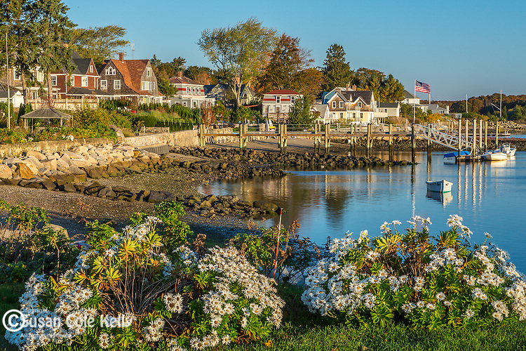An autumn morning in Wickford, Rhode Island, USA