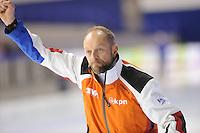 SCHAATSEN: CALGARY: Olympic Oval, 10-11-2013, Essent ISU World Cup, Gerard Kemkers (trainer/coach TVM Schaatsteam), ©foto Martin de Jong