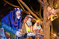 Models for Christ stage a Live Nativity Scene at Palisades Park on Friday, December 7, 2012.