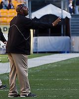 Gardner-Webb head coach Ron Dickerson Jr. The Pitt Panthers defeated the Gardner-Webb Runnin Bulldogs 55-10 at Heinz Field, Pittsburgh PA on September 22, 2012..