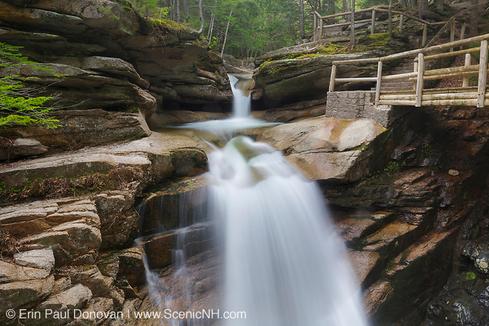 Sabbaday Falls during the spring months. Located just off the Kancamagus Highway (route 112) in the White Mountains, New Hampshire USA