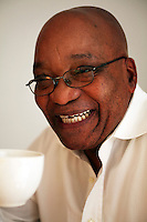 Leader of the African National Congress (ANC), Jacob Zuma at his home in Johannesburg.