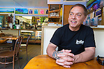 Owner Al Franco at Grandma's Coffee House in Keokea, Upcountry, Maui, Hawaii