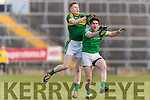 Jason Foley Kerry in action against Ger Collins Limerick in the Final of the McGrath Cup at the Gaelic Grounds on Sunday.