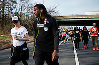 New York City Council Member Jumaane Williams walks during the March4justice in North Brunswick, New Jersey 04.13.2015. The Action it's a nine day march from NYC to the U.S. Capitol in Washington DC. Kena Betancur/VIEWpress.