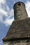 Europe, Ireland, Glendalough. St. Kevin's Church with mini round tower at Glendalough.