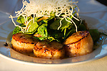 California, San Francisco: Scallops at the Cliff House..Photo #: 9-casanf76457.Photo © Lee Foster 2008