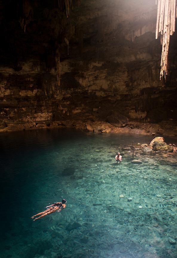 Cenote Samula near Dzitnub, Valladolid, Yucatan, Mexico