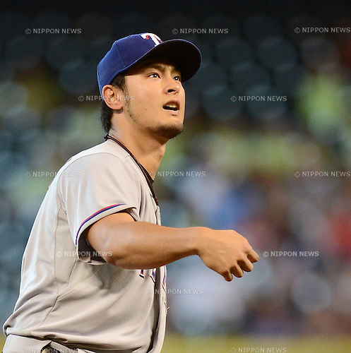 Yu Darvish (Rangers), AUGUST 12, 2013 - MLB : MLB game between the Texas Rangers and the Houston Astros at Minute Maid Park in Houston, Texas, United States. (Photo by AFLO)