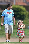 21 August 2009: Chris and Rylie Cate Rampone, husband and daughter of Sky Blue's player/coach Christie Rampone (not pictured). Sky Blue FC held a training session at the Home Depot Center in Carson, California one day before playing Los Angeles Sol in the inaugural Women's Professional Soccer Championship Game.