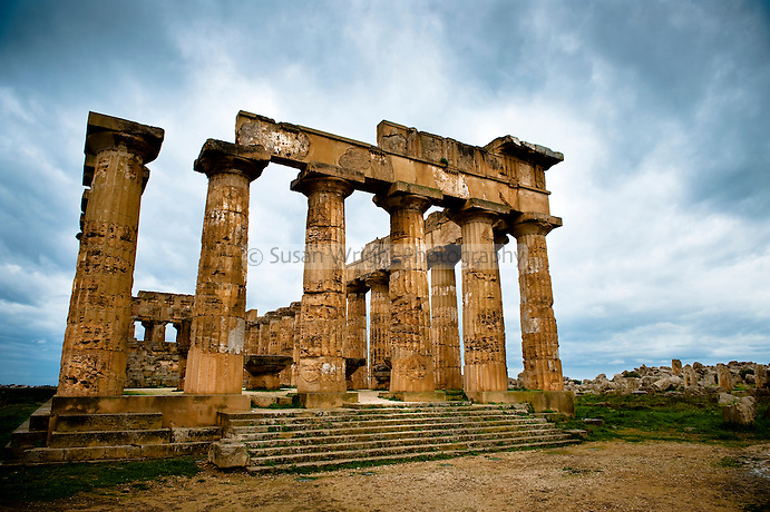 The archaeological site of Selinunte, Sicily, Italy