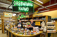 Greeneman Farms is a vendor at 7th Street Public Market in Uptown Charlotte, North Carolina. Building upon the success of Charlotte's Center City Green Market, the Seventh Street Public Market opened in 2012 to be a year-round market serving and celebrating local food artisans, entrepreneurs and local and regional farmers. Image is part of a series of photos taken of the Center City attraction.