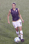 27 April 2008: Heather Mitts (USA). The United States Women's National Team defeated the Australia Women's National Team 3-2 at WakeMed Stadium in Cary, NC in a women's international friendly soccer match following a brief delay for lightning.