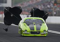 Apr 29, 2016; Baytown, TX, USA; NHRA pro mod driver Ruben Tetsoshvili during qualifying for the Spring Nationals at Royal Purple Raceway. Mandatory Credit: Mark J. Rebilas-USA TODAY Sports