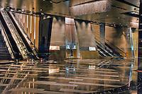 Escalators, lobby, Aria Resort & Casino, CityCenter, Las Vegas, Nevada, USA Hospitality