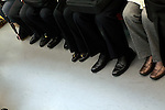feet of business commuters Tokyo Japan