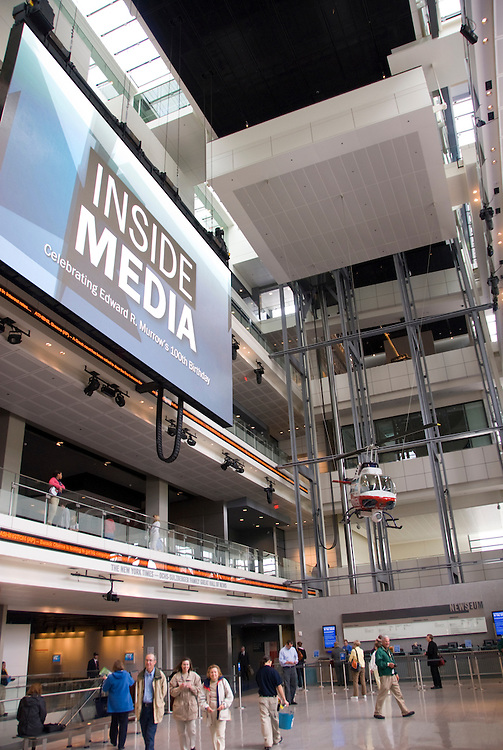 Washington DC; USA: The Newseum, which celebrates the media and its effect on the public.  Newsgathering and its effect on our lives..Photo copyright Lee Foster Photo # 13-washdc80005