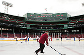 Marty McInnis (BC - Assistant Coach) - The Boston College Eagles practiced at Fenway on Friday, January 6, 2017, in Boston, Massachusetts.