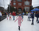 Residents skate on synthetic ice in Oxford, Miss. on Saturday, December 15, 2012.