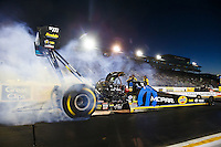 Jul 29, 2016; Sonoma, CA, USA; NHRA top fuel driver Leah Pritchett during qualifying for the Sonoma Nationals at Sonoma Raceway. Mandatory Credit: Mark J. Rebilas-USA TODAY Sports