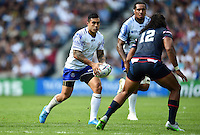 Tusi Pisi of Samoa in possession. Rugby World Cup Pool B match between Samoa and the USA on September 20, 2015 at the Brighton Community Stadium in Brighton, England. Photo by: Patrick Khachfe / Onside Images