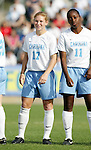 UNC's Lori Chalupny (17) and Robyn Gayle (11) on Sunday, November 6th, 2005 at SAS Stadium in Cary, North Carolina. The University of North Carolina Tarheels defeated the Virginia Cavaliers 4-1 in the Championship Game of the Atlantic Coast Conference Women's Soccer Tournament.