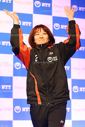 Yui Hashimoto,<br /> JANUARY 26, 2015 : <br /> NTT corporation has Press conference at Hotel Okura Tokyo.<br /> NTT corporation today announced that it has entered into a partnership agreement with the Tokyo Organising Committee of the Olympic and Paralympic Games.<br /> (Photo by Shingo Ito/AFLO SPORT)