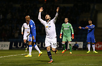Bolton Wanderers' Adam Le Fondre celebrates scoring his sides second goal <br /> <br /> Photographer Rob Newell/CameraSport<br /> <br /> The EFL Sky Bet League One - Gillingham v Bolton Wanderers - Tuesday 14th March 2017 - MEMS Priestfield Stadium - Gillingham<br /> <br /> World Copyright &copy; 2017 CameraSport. All rights reserved. 43 Linden Ave. Countesthorpe. Leicester. England. LE8 5PG - Tel: +44 (0) 116 277 4147 - admin@camerasport.com - www.camerasport.com