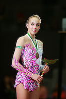 Inna Zhukova of Belarus...portrait during Event Finals medals at 2007 Portimao World Cup of Rhythmic Gymnastics on April 29, 2006.  (Photo by Tom Theobald).