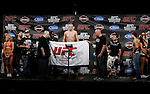 October 23, 2009; Los Angeles, CA; USA;  Josh Neer weighs-in for his bout against Gleison Tibau.  The two will meet tomorrow night at UFC 104 at the Staples Center in Los Angeles, CA.