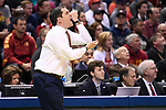 MILWAUKEE, WI - MARCH 18: Iowa State Cyclones Head Coach Steve Prohm appeals to the referees for an elbowing call during the second half of the 2017 NCAA Men's Basketball Tournament held at BMO Harris Bradley Center on March 18, 2017 in Milwaukee, Wisconsin. (Photo by Jamie Schwaberow/NCAA Photos via Getty Images)