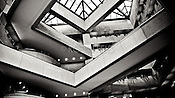 PNC Bank Building Atrium, Black & white in Dayton Ohio,