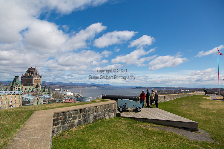 "The Citadelle of Quebec is a military installation and official residence of both the Monarch of Canada and the Governor General of Canada located atop Cap Diamant, adjoining the Plains of Abraham in Quebec City, Quebec, Canada. This citadel is part of the fortifications of Quebec City. The city of Quebec is the only one in North America with Campeche in Mexico that is still surrounded by fortifications.  The Citadelle is a National Historic Site of Canada, and also forms part of the Fortifications of Québec National Historic Site of Canada. The fortress is located within the ""Historic District of Old Québec"", which was designated a World Heritage Site in 1985."