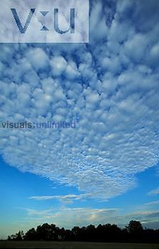 Altocumulus clouds, mackeral sky