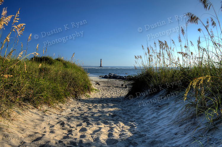 Folly Beach South Carolina Sunrise Beach Scene Morris Island Light House Lighthouse Dustin K